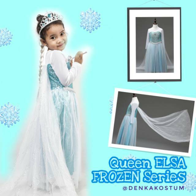 SALE MURAH - DRESS ANAK IMPORT ELSA FROZEN SAYAP Baju Pesta Gaun Branded  Kostum Princess Cosplay  f3fdcf2458