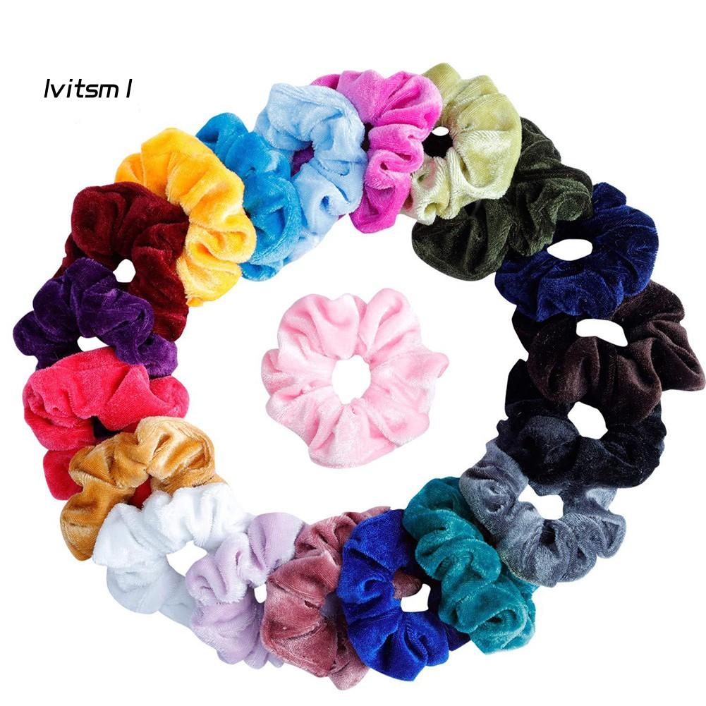 20X Hair Accessories For Girls Women Rubber Bands Ponytail Holder Hair ElasticSL