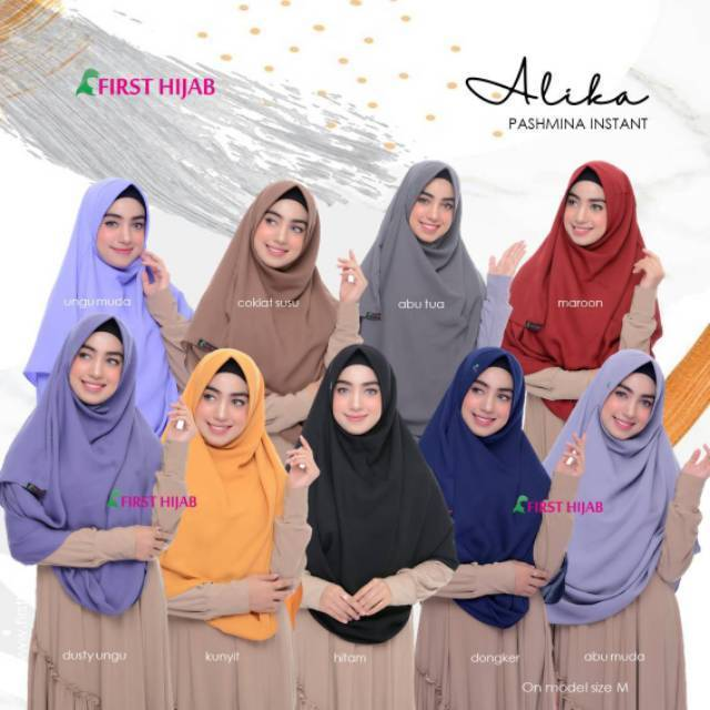 Pashmina Instan Pastan Size M By First Hijab Shopee Indonesia