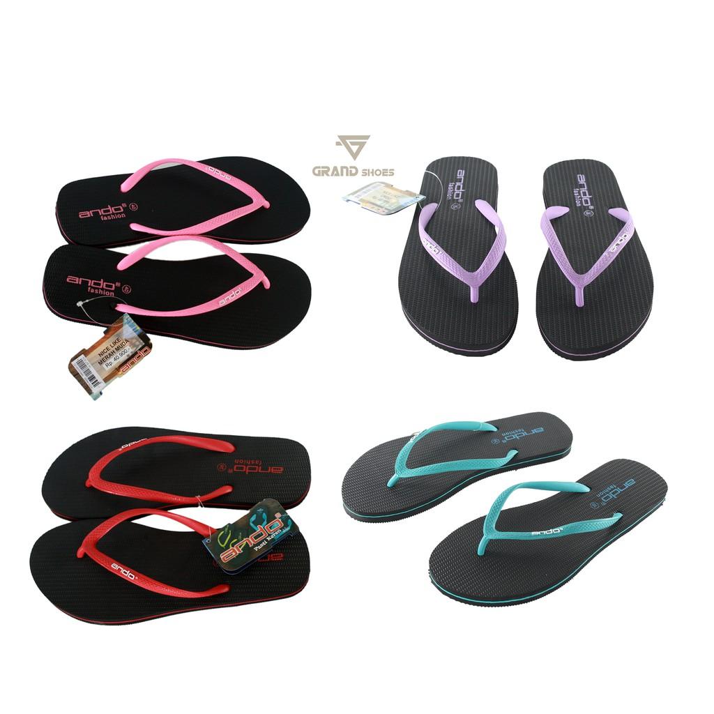 on time timmy sandal jepit wanita hitam murah gratis promo original nyaman awet sol empuk   Shopee Indonesia