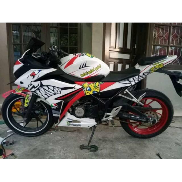 Decal Sticker Murah Honda Cbr 150 Dan Cbr 250 Full Tema Hiu Shark Atau Bebas Shopee Indonesia