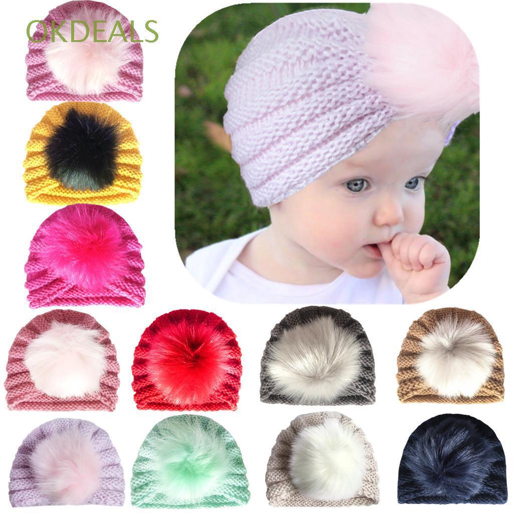 Topi Kupluk Rajut Hangat Bayi Laki-laki / Perempuan untuk Musim Dingin