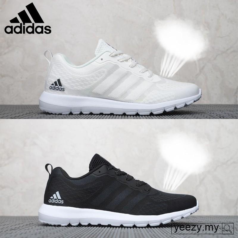 Cerco cascada Secretar  Black White shoes Adidas ClimaCool breathable breeze cool unisex running  shoes   Shopee Indonesia