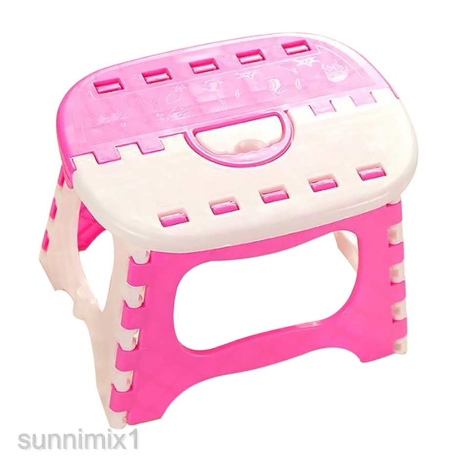 Folding Step Stool Furniture Stool With Handle For Kids And Adults Outdoors Shopee Indonesia