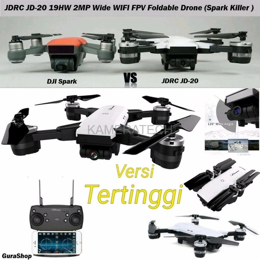 Drone Sjy X19hw Jdrc Jd20 Quadcopter Dji Spark Cloning 24 Ghz 2mp Jjrc H12w Wifi Dengan Kamera 720p Red Shopee Indonesia