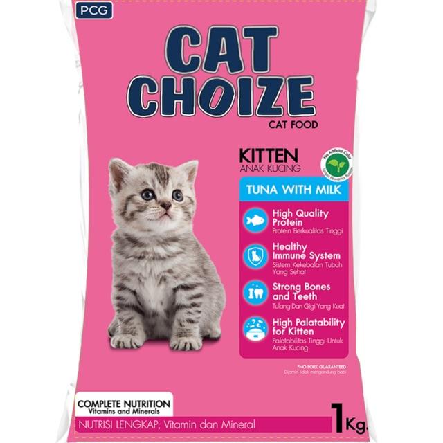Cat Choize 1kg Makanan Khusus Anak Kucing Pink Shopee Indonesia
