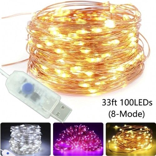 20//30//50//100LEDs USB Copper Wire String Fairy Lights Home Party Decor Waterproof