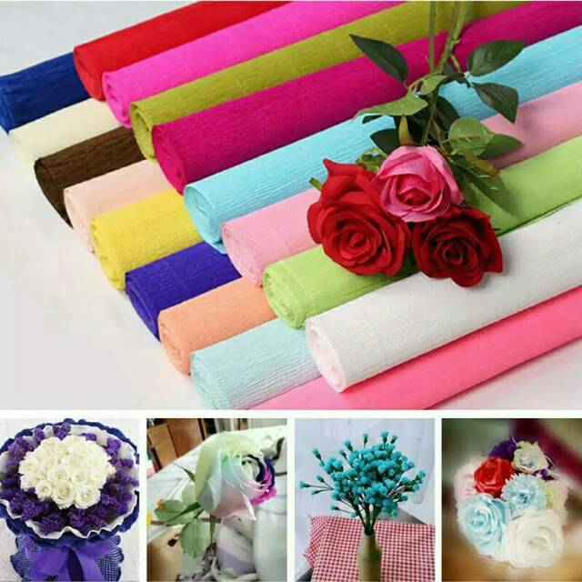 italian crepe paper buket bunga import  d56d794c8a