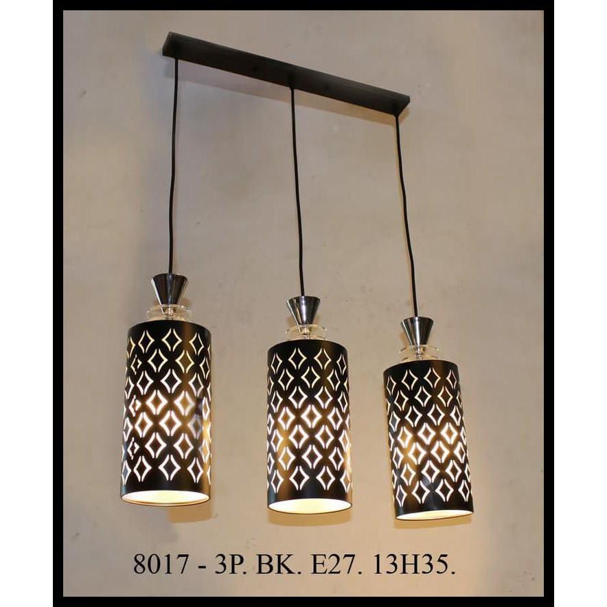 Lampu Hias Gantung Dekorasi Ruang Tamu Meja Makan Minimalis 8017 3p Base Panjang Barang