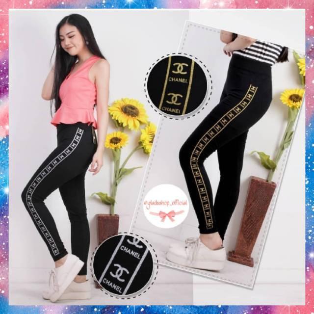 Celana Legging Trendy Import Fashion Wanita Celana Olahraga Wanita Senam Zumba Shopee Indonesia