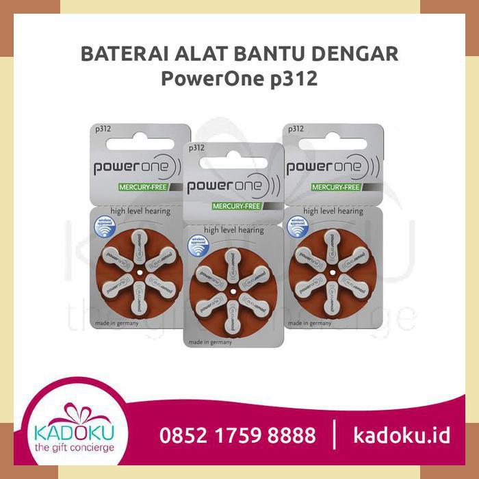 Baterai Alat Bantu Dengar Powerone 312 (Tipe Terbaru Mercury-Free) | Shopee Indonesia