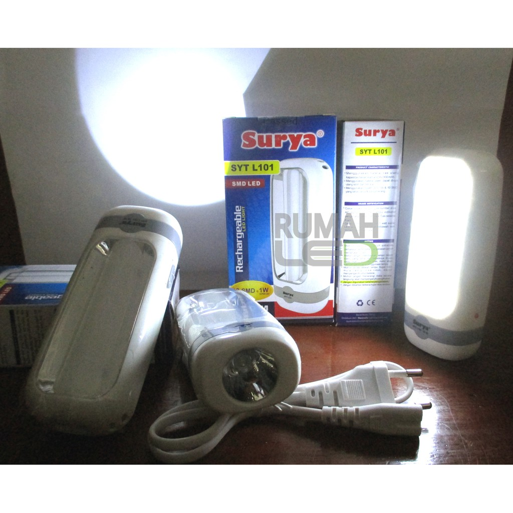 Emergency Lampu/Light,Senter Surya SYT L101 Rechargeable | Shopee Indonesia