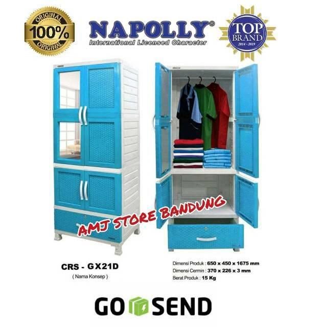Ready Stok Lemari Baju Napolly Exsel Plastik Gantung Murah Bandung Go Send Crs Gx 21 D Shopee Indonesia