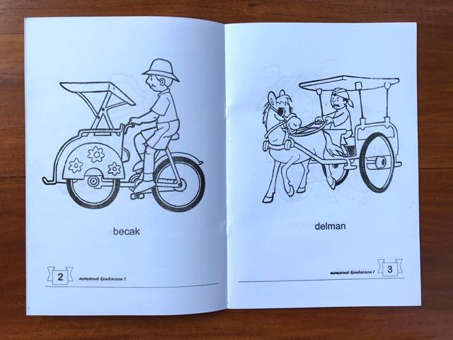 Buku Mewarnai Kendaraan Mutiara Ilmu Lebar Shopee Indonesia