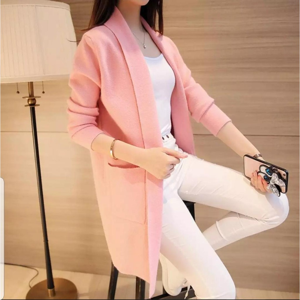 Cardigan Kupluk Shopee Indonesia Asymmetric Kardigan Kimono Jaket Wanita Jk435