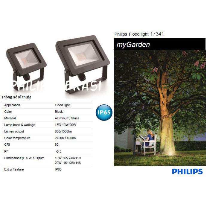 Lampu Sorot Taman Led Floodlight Philips 10 Watt 17341 4000k Shopee Indonesia