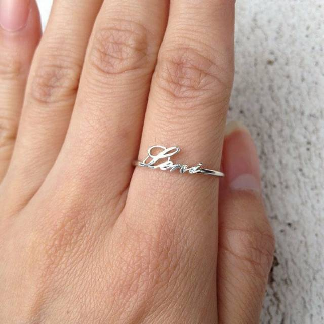 Cincin Emas Putih Asli Emas Muda Cincin Nama Cincin Kawin Cincin Tunangan Kado Hadiah Cincin Shopee Indonesia