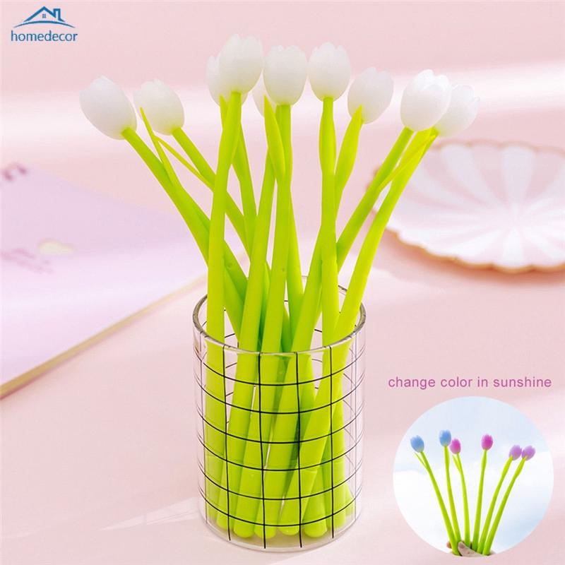 Hd Pen Gel Fotochromic Desain Bunga Tulip Bahan Silikon Untuk Pelajar Shopee Indonesia