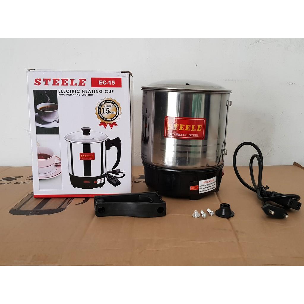 Mug Pemanas Air Listrik Teko Shopee Indonesia Electric Heating Cup Q2 11cm
