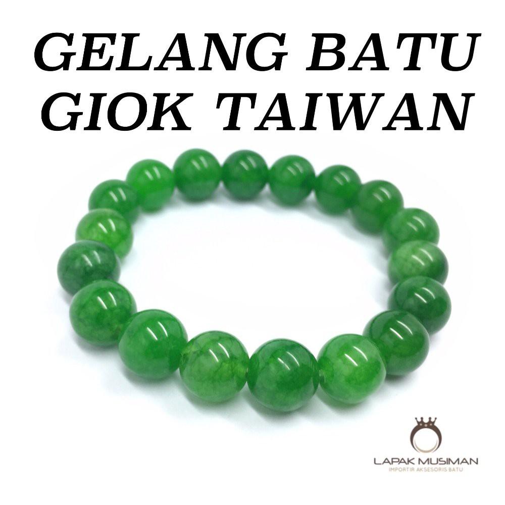 (Kirim sertifikat)gelang batu permata giok permata tawar | Shopee Indonesia