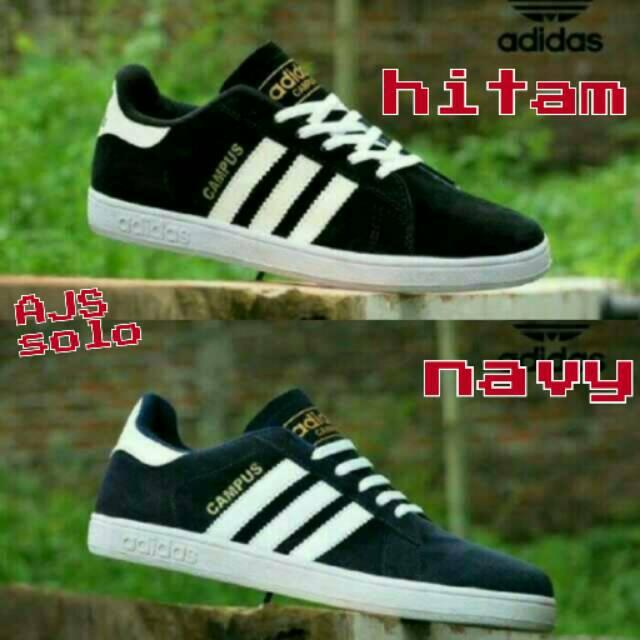 91004b4384dcf0 Sepatu Adidas Campus Navy grade ori