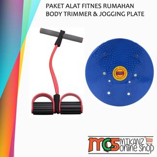 Paket Fitnes Pelangsing Badan Dirumah Magnetic Jogging Body Plate Dan Body Trimmer