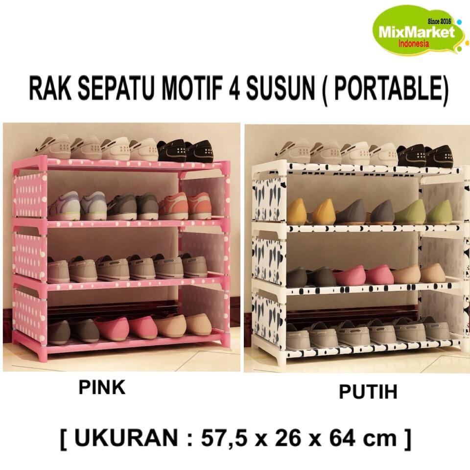 RAK SEPATU/SHOE RACK 10SUSUN (2KG)-RS10CHP(SCOTLAND), SHENAR   Shopee Indonesia