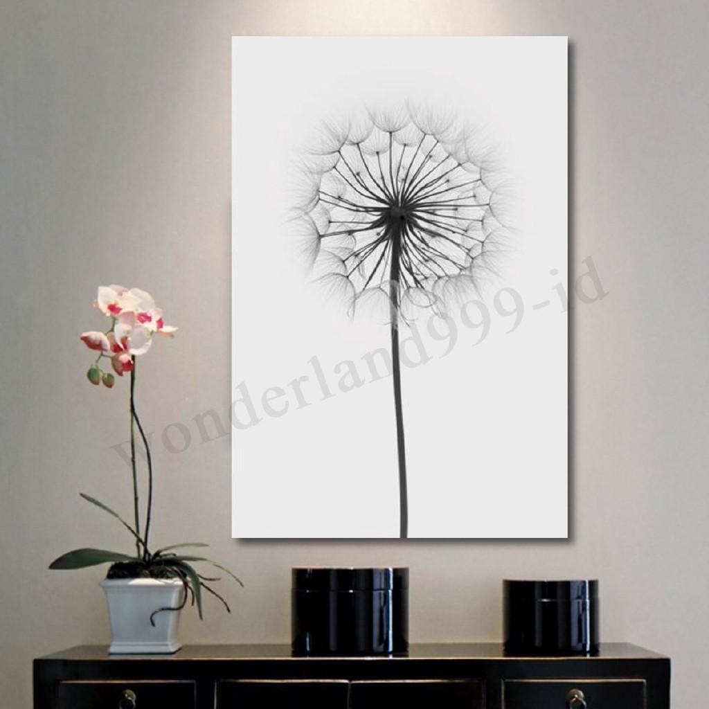Da Lukisan Kanvas Gambar Bunga Dandelion Minimalis Untuk Dekorasi
