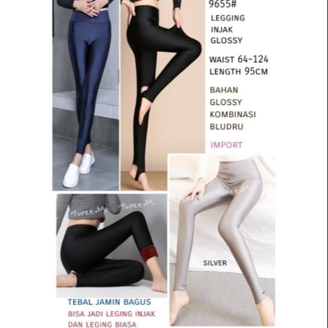 Bm 9655 Legging Injak Glossy Import Shopee Indonesia