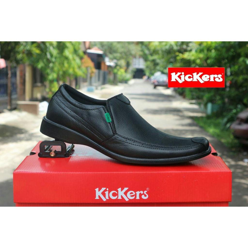 Sepatu Pantofel Pria Kickers Kulit Original Formal Kantor Pesta