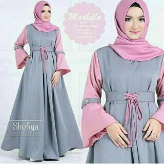 Dress Muslimah Modis Gaul Terkini Modern Elegan  GAMIS GRACELLA BY ERIC  SUMMER 815d1770ca