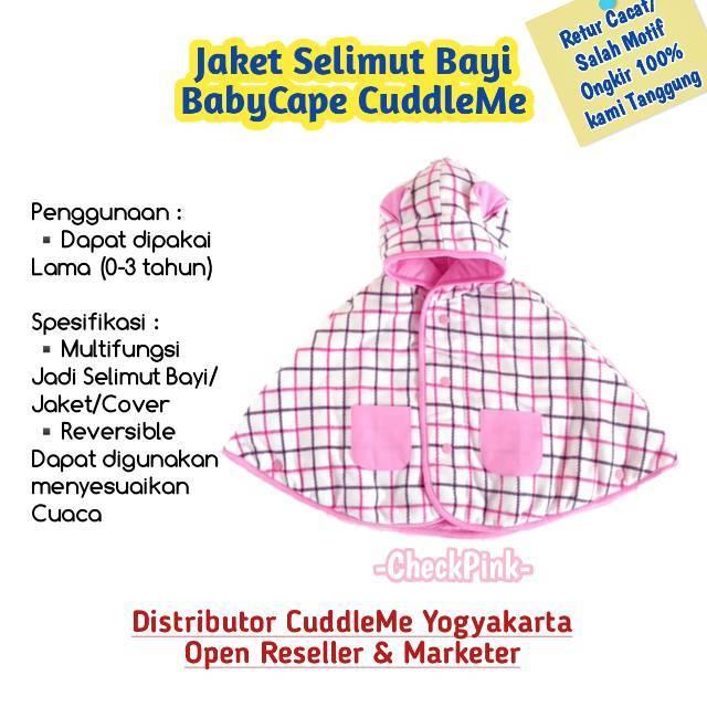 Jaket Baby Cape Anak Cuddle Me CheckPink BabyCape CuddleMe Murah | Shopee Indonesia