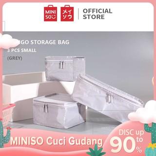 MINISO Minigo Tas Penyimpanan Baju Storage Organizer Set utk travel 3 Pcs
