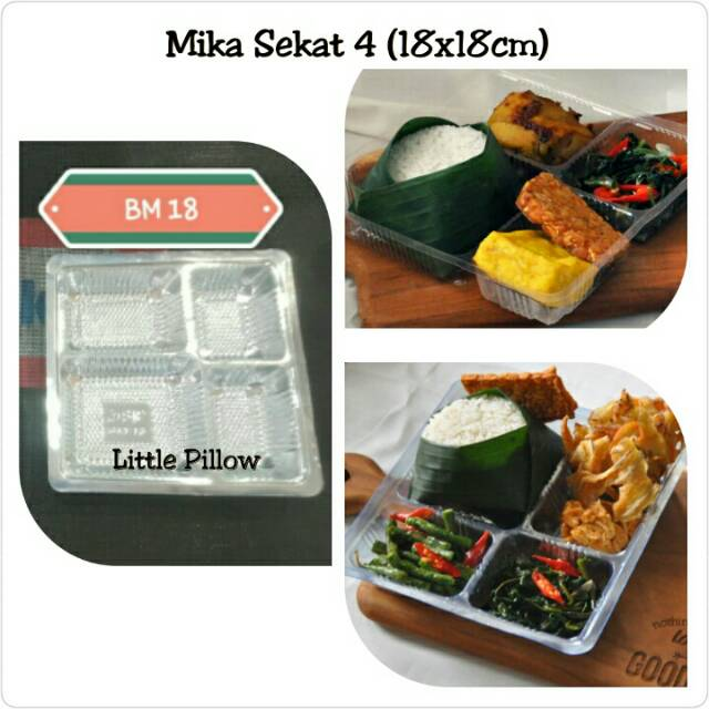 Isi 50pcs Mika Nasi Box Mika Nasi Kotak Mika Lunch Box Shopee
