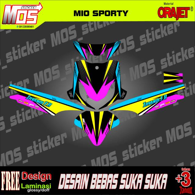 Decal Stiker Mio Sporty Simpel Keren Limited Edition Shopee Indonesia