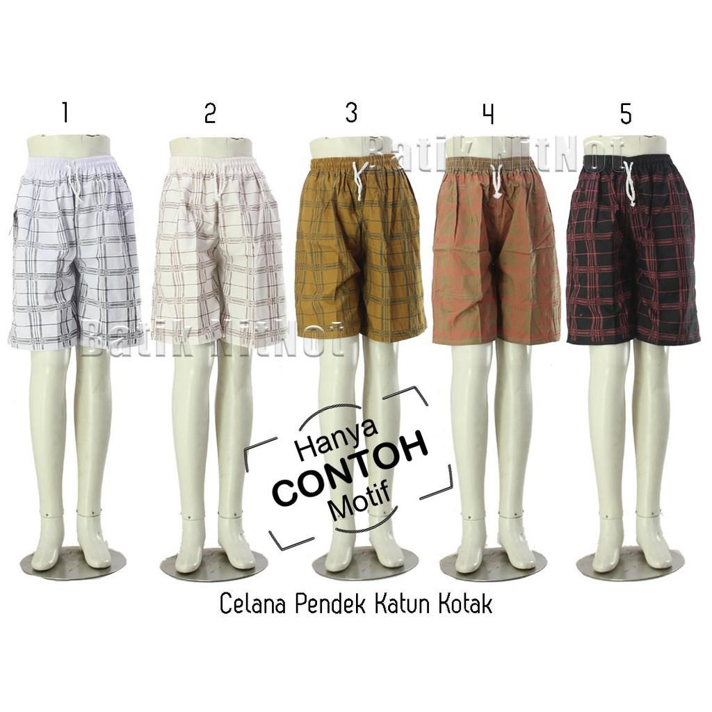 Garansi Celana Pendek Santai Jumbo Kotak Katun Salur 7 8 Limited Kolor Polos Super Big Size Shopee Indonesia
