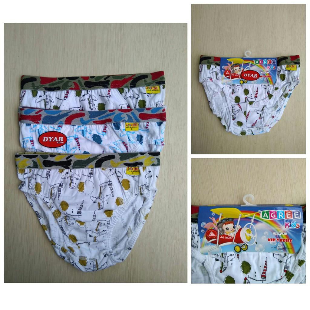 6 Pcs Celana Dalam Anak Agree Boys Shopee Indonesia Pria Original Isi 3