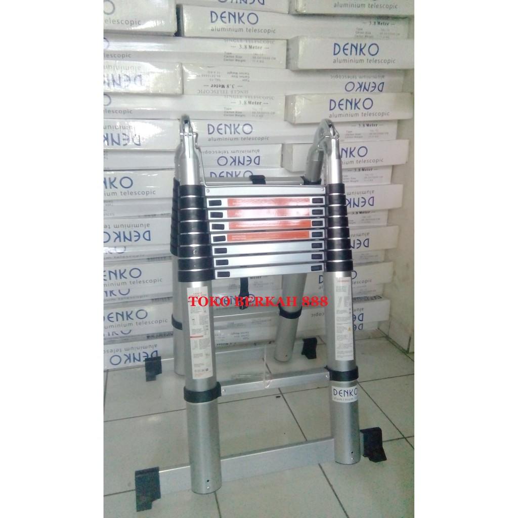 Tangga Aluminium Telescopic Teleskopik Multipurpose Liveo 38 Single Ladder 38m Lv 202 Meter Lv222 Shopee Indonesia