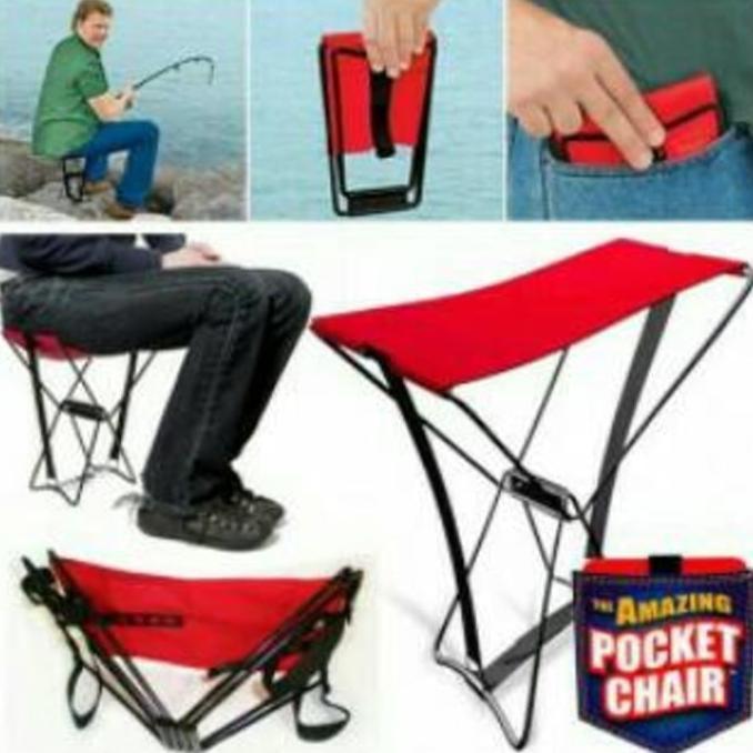 Kursi Lipat Kursi Camping Kursi Pancing Amazing Pocket Chair | Shopee Indonesia