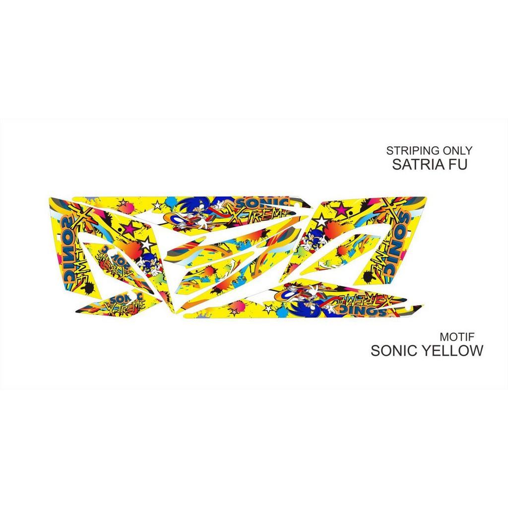 Striping Variasi Satria FU NEW Sonic Kuning