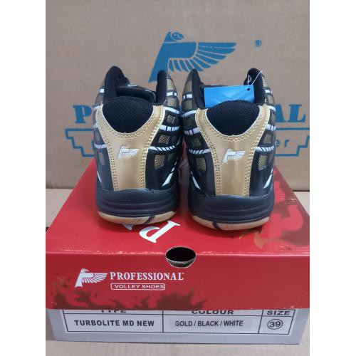 Star Seller Sepatu Volley Voli Professional Turbolite Md New Gold   Black    White Termurah!...  4a1fab4366