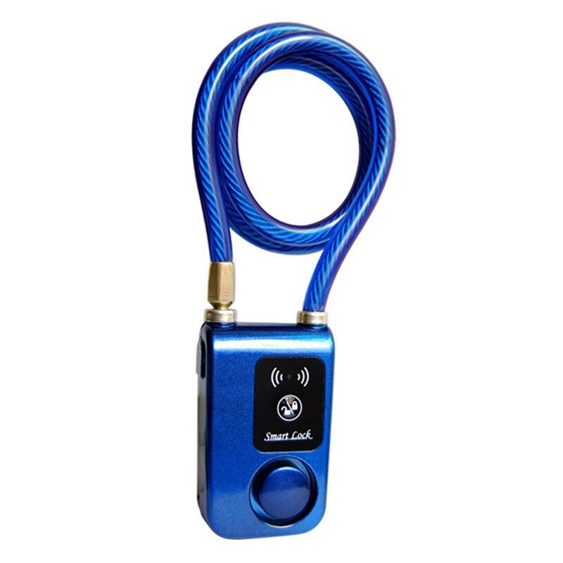 APP Control Bluetooth Smart Lock Anti Theft Alarm Chain Lock Alarm Lock for Bike