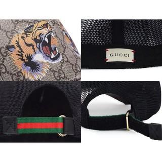 BOX LENGKAP + Topi Gucci Baseball Supreme GG Print Tiger LIST KULIT ASLI ORI  14TT0. suka  0 c8cb349ca4