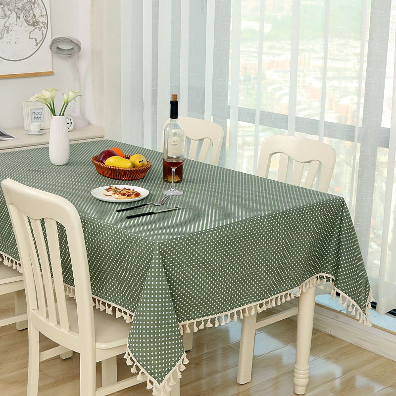 Quality Home Dot Plaid Table Cloth Dinner Rectangular Antiderapant Tablecloth Home Kitchen Tischdecke Decor Stripe Table Cover Lace Tassel Shopee Indonesia