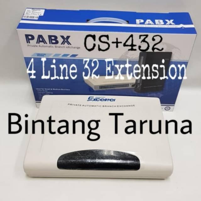 Mini Pabx Excelltel Cs 432 Pbx Excelltel Cs 432 Small Office Pabx 432 Shopee Indonesia