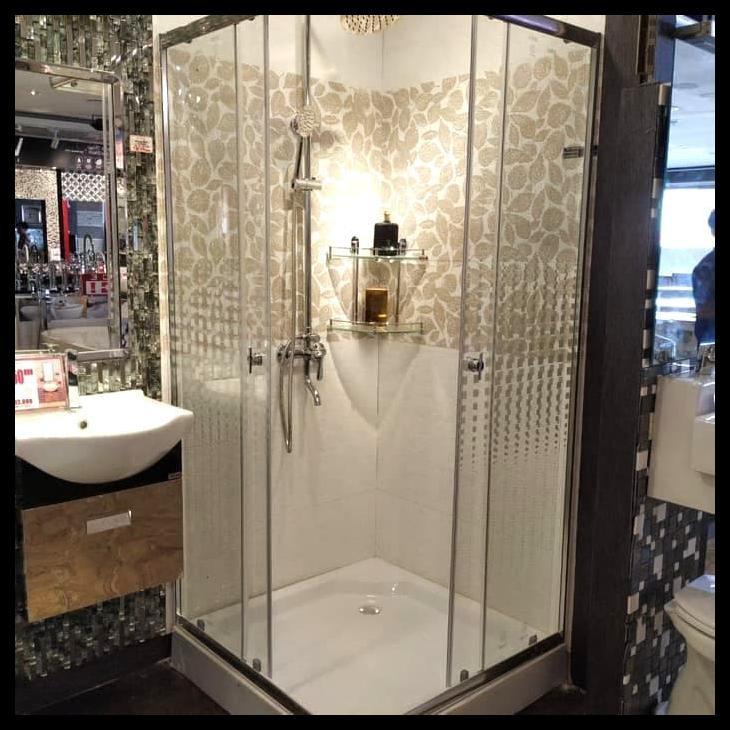 Box Shower Kaca Shower Kamar Mandi Partisi Kaca Shower Room Shopee Indonesia
