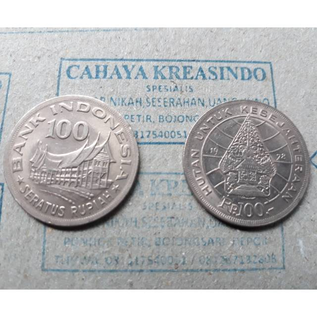 Uang logam kuno 100 rupiah wayang | Shopee Indonesia