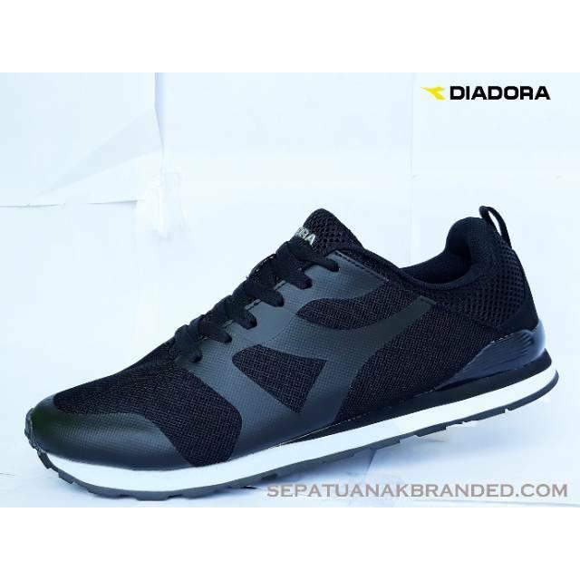 Sepatu diadora Liborio Original   Sneakers   Casual   Black   Hitam    Kuliah   sekolah   Murah  3bcf24a631
