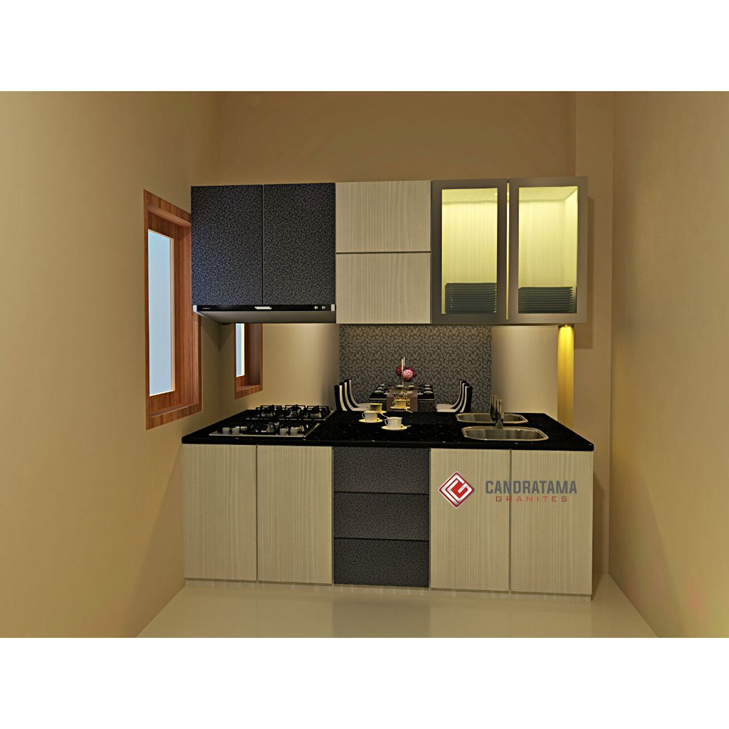 Promo kitchen set lemari dapur furniture minimalis hpl shopee indonesia