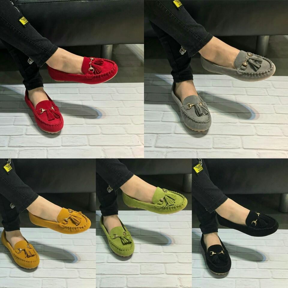Koleksi Terbaru Sepatu Wanita Loafer Tods Tassel Flat Shoes Kerja Kanvas Lukis  Slipon Px Style Suster Fashion Import Murah Promo Ramadhan Shopee Indonesia